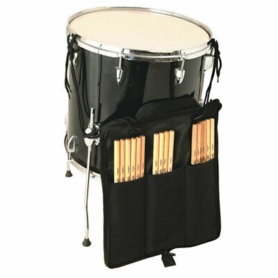 NEW On Stage DSB6700 3 Pocket Drum Stick Bag Black - Holds 10 Pairs