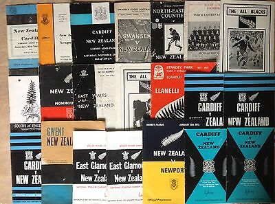 New Zealand Rugby Tour Programmes 1953 - 1996