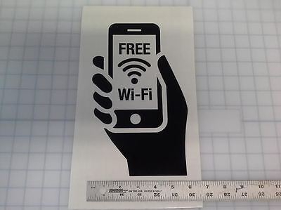 Free WI FI Large Vinyl Window Decal Sticker Business Sign Restaurant Store