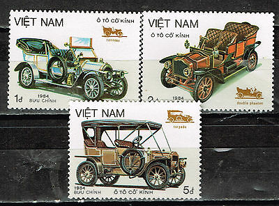 Vietnam Old Historic Cars 1984 stamps MNH