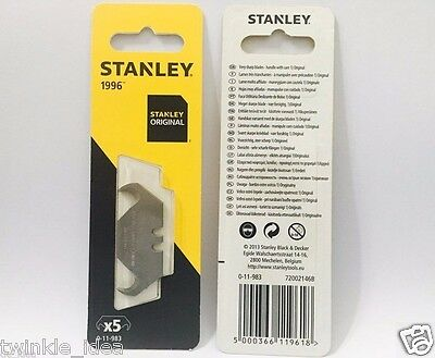 STANLEY 5 Blades 1996 Knife Blades Hooked 0-11-983, Stanley Tools