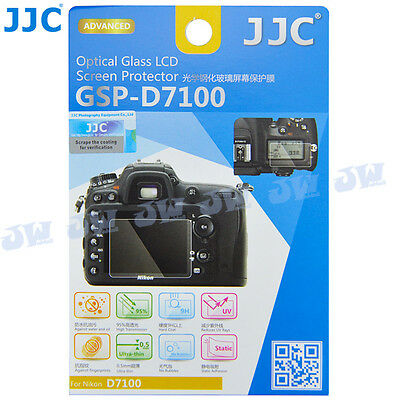 JJC HD Optical Tempered Glass LCD Screen Protector Cover for Nikon D7100 D7200
