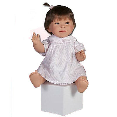 Down Syndrome Baby Girl Doll - Brown Hair - 30cm - Anatomically Correct