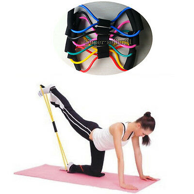 Resistance Training Sport Great Muscle Yoga Bands 8-Type Fitness Equipment Rope