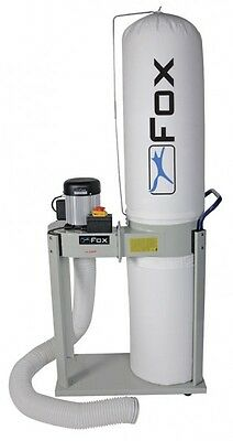 Fox F50-841 Dust Extractor 750W - 240V (1hp) Motor 2m Of Hose Supplied