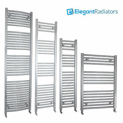 Heated Towel Rail Radiator Chrome Flat or Curved Clearance While Stock Last UK