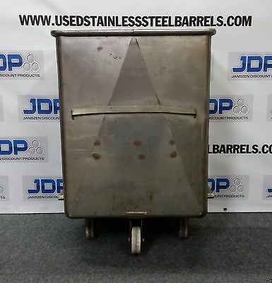Stainless Steel Meat Buggy Tank on casters. Approx. (80 Gallon)