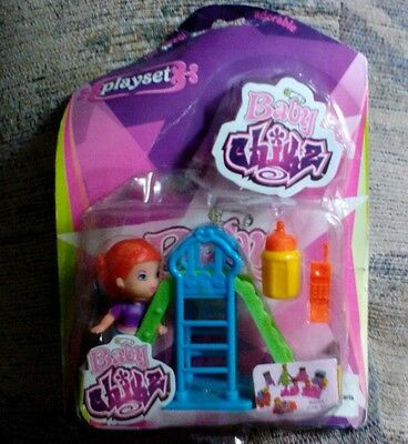 Baby Chikz Playset, Sliding Board, Baby Bottle, Cell Phone, Ages 3+