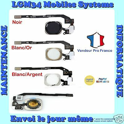 Bouton Home + Nappe Complet Iphone 5S 5Se Noir Blanc Argent Or