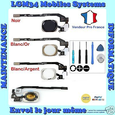 Bouton Home Nappe Complet Iphone 5S 5Se Avec Outil