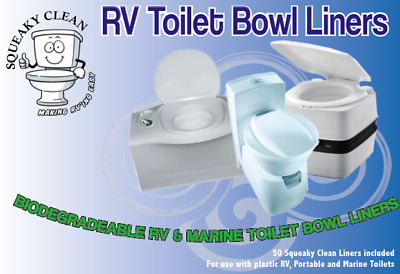 Squeaky Clean Toilet Liners New Portable Cassette Toilets Happy Bowl Caravan Cam