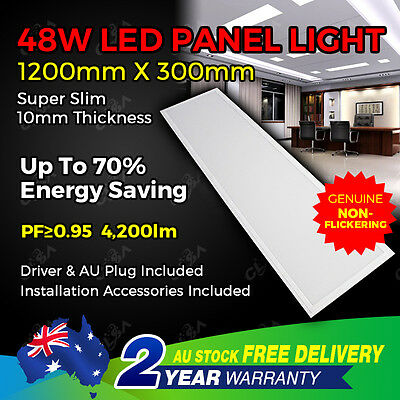 New 48W LED Office T Bar Flat Panel Light Troffer Ceiling 120 30 cm 4200lm White