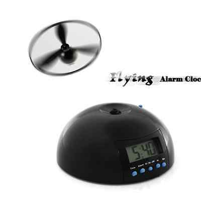 New Digital LCD Crazy Annoying Loud Flying Alarm Clock Helicopter Gift Toys Efor