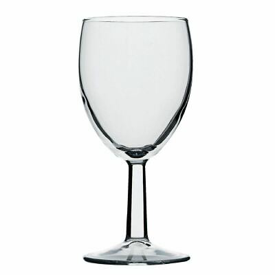 Utopia Saxon Wine Goblets in Clear Made of Glass 9 oz / 260 ml - 48