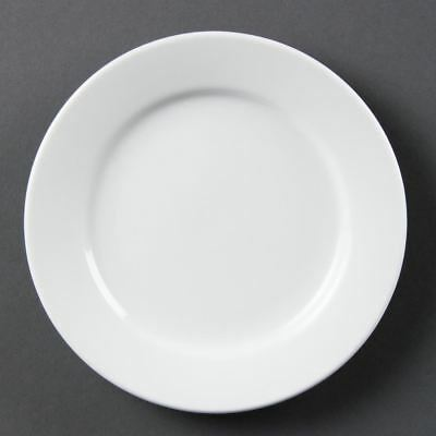12X Olympia Whiteware Wide Rimmed Service Plates 165mm Porcelain