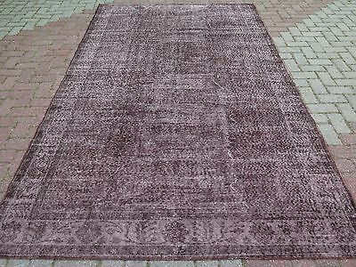 "Vintage Turkish Overdyed Rug Kilim Carpet 68,8"" x 114,5"" Browny Kelim Carpet"