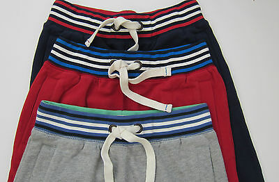 Boden Johnnie B Sweat Pants Joggers Trousers Red-Navy-Grey Ages 8-16  Bnwot