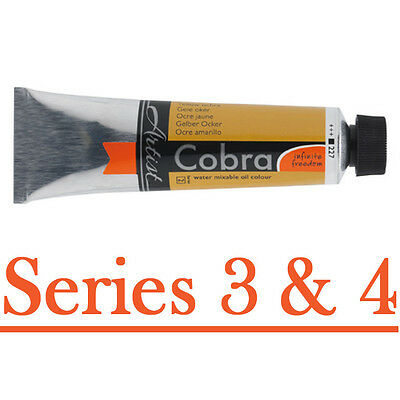 Cobra 40ml watersoluble oil paint - series 3 and 4