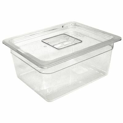Vogue 1/3 Gastronorm Container 65mm 2.5 Litre Clear Catering Food Storage Pan