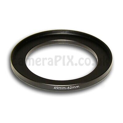 49mm to 62mm Male-Female Stepping Step Up Filter Ring Adapter 49-62 49mm-62mm UK
