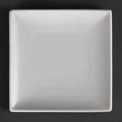 12X Olympia Whiteware Square Service Plates 140mm Porcelain Restaurant