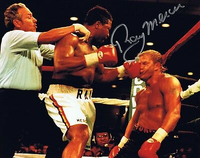 Ray 'Merciless' Mercer Signed/Autographed Boxing 8x10 Photo - w/Tommy Morrison