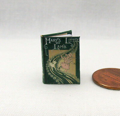 MARY'S LITTLE LAMB Miniature Book Dollhouse 1:12 Scale Readable Illustrated Book
