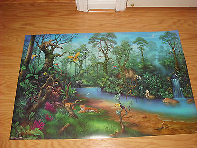 Artist David Miller Rainforest Fantasy Poster Print New 34X22