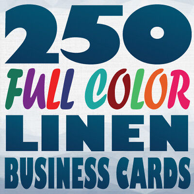 250 Full Color Custom 100Lb Cover Uncoated LINEN BUSINESS CARD Printing