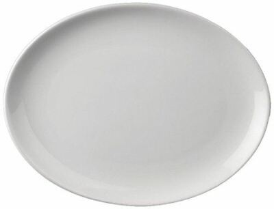 24X Athena Hotelware Oval Coupe Service Plates 305X242mm Porcelain Restaurant