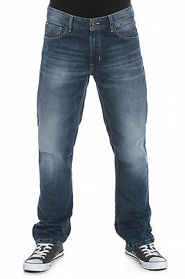 Mens Straight Fit Jeans In Dark Mid Wash (Edison) Clearance!!!