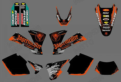 Team Graphics Backgrounds Decals For Ktm Exc 125/200/250/300/400/450/525 2003