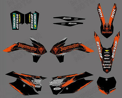 Team Graphics Backgrounds Decals For Ktm Sx Xc 125 150 250 350 300 450 2013 14