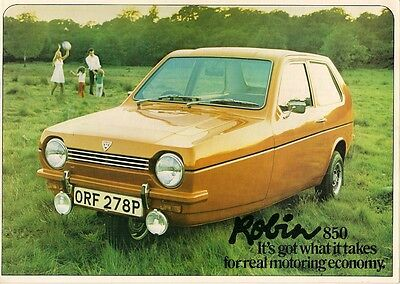 Reliant Robin 1975-77 UK Market Sales Brochure 850 Hatchback Estate Van Super