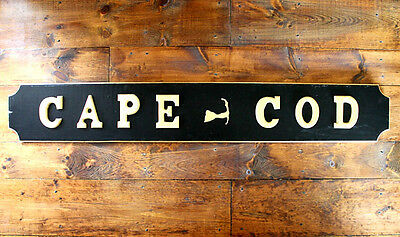 Nautical Quarter Board 'Cape Cod Memories', gold gilding, 6 FT. Great Gift !!