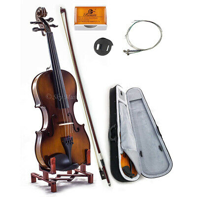 NEW Solid Maple Spruce Fiddle Violin 4/4 Full Size w Case Bow Rosin String VN201