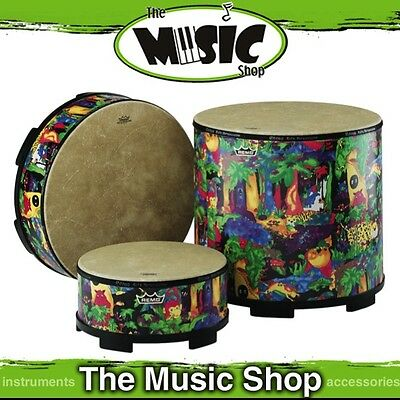 "New Remo Kids Percussion 16"" Gathering Drum with Rainforest Pattern - KD-5816-01"