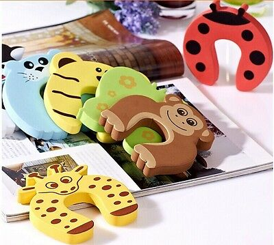 10x Baby Kids Animal Door Stopper Jammer Safety Finger Protector Guard Corner T