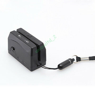 Mini300 DX3 Portable Magnetic Magstripe card Reader Collector SMALLEST Swipe