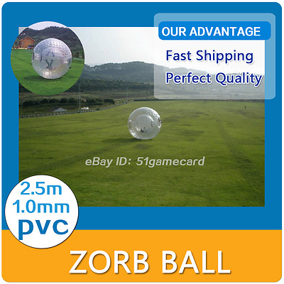 NEW 2.5M ZORB BALL Inflatable zorb ball Zorbing Human Hamster ball PVC 1.0MM