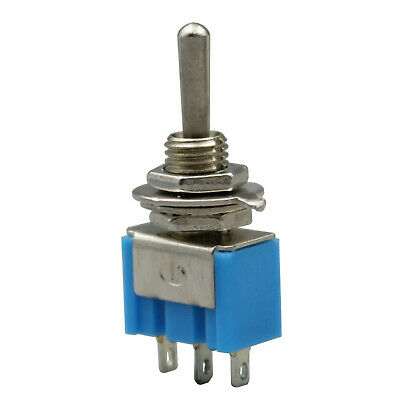 50Pcs Blue MTS-103 3-Pin 6MM Mini SPDT ON-OFF-ON 6A 125VAC Toggle Switches