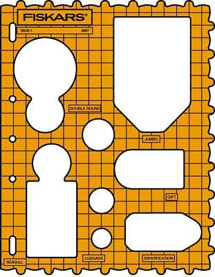 FISKARS SHAPE TEMPLATE stencil Tags  & circles 4857 seagull border