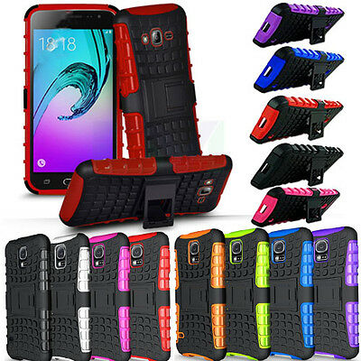 Heavy Duty Armour Builder Shock Proof Stand Tyre Case Cover For Mobile Phones