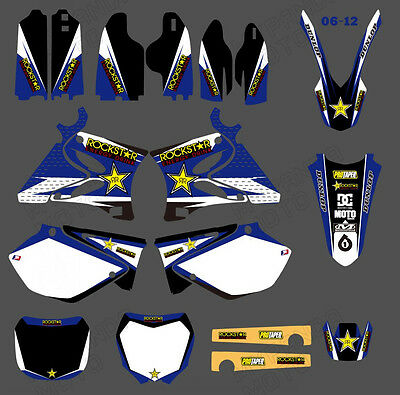 TEAM GRAPHICS&BACKGROUNDS DECALS For YAMAHA YZ125 YZ250 2002 2003 04 05 2006 07
