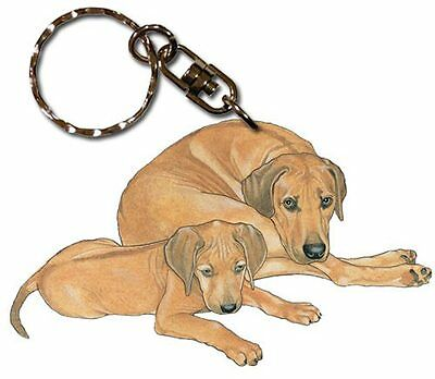 Rhodesian Ridgeback Wooden Dog Breed Keychain Key Ring