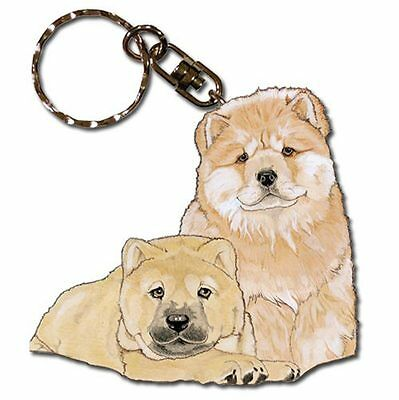 Chow Chow Keychain Wooden Key Ring