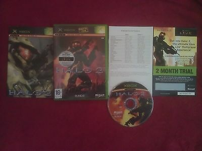 Halo 2  Microsoft Xbox 16+ Pal With Unscratched 2 Month Trial