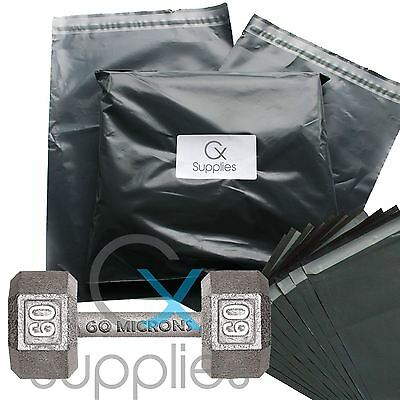 Strong Grey Plastic Mailing Post Poly Postage Bags Sacks Self Seal ALL SIZES