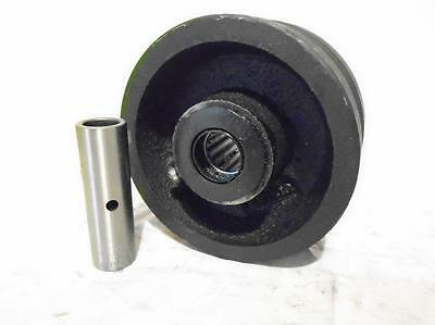 "4"" x 2"" V-Groove 7/8"" Iron Steel Caster Wheel 600lbs"