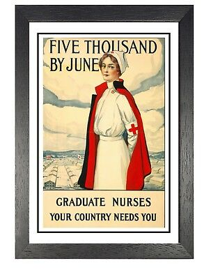 Graduate Nurses War Poster Vintage Advert WW1 Propaganda Picture A3 A4 Prints